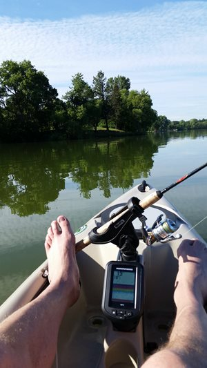 Great day on the lake in my kayak!