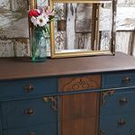 One of my recent projects. A great antique dresser that I renovated with st...