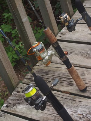 """""""Still life with fishing poles"""" :)"""