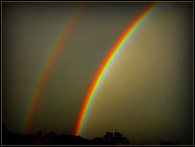 Twin Rainbows Twice 3 Days Apart.