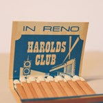 Vintage Harold's Club Casino matchbook.