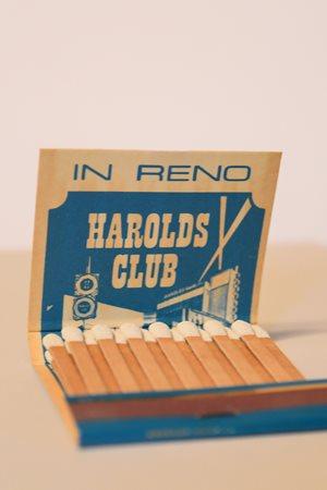 Vintage Harold's Club Casino matchbook.