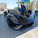 Ford GT at the gas station. Nice car.