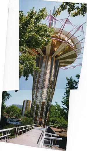 Prayer Tower at ORU.  Tulsa , Oklahoma, USA.     I took this with 35.mm. fi...