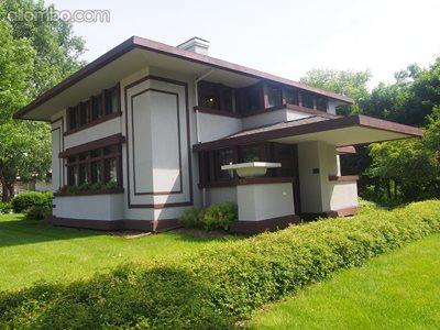 """Stockman"" house...Mason City Ia. Designed by Frank Lloyd Wright...built 19..."